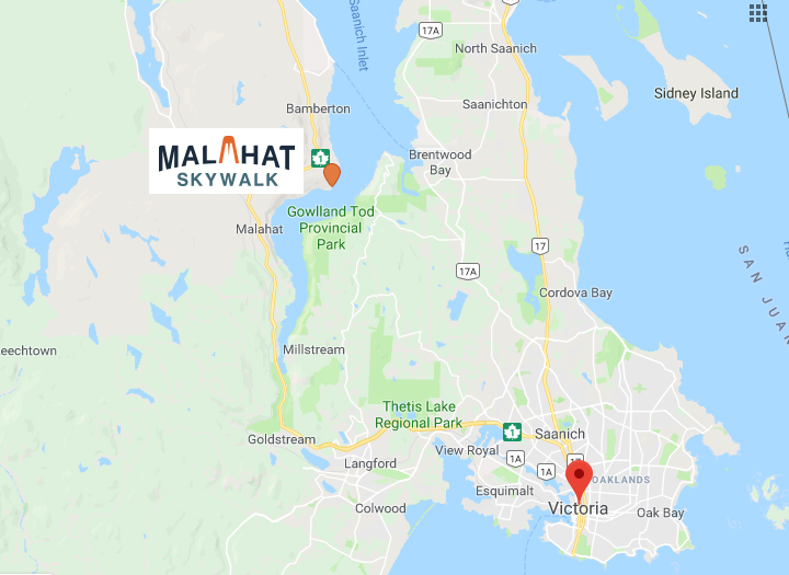 Malahat Skywalk Map location
